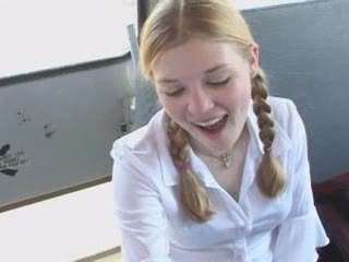 Two Schoolgirls Blow Teacher