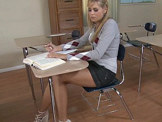 Blonde Cute School Teen