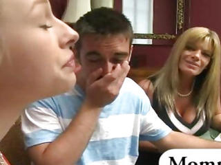 Teen And Stepmom Battle For The Teens Bo...