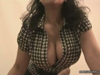 Horny teacher with hot tits