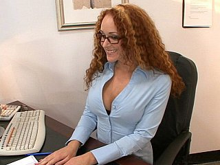 Curly redhead counselor Kitty...