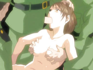 Caught Hentai Hard Gangbanged By Soldier...