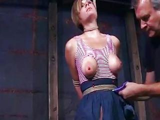 Blonde Bondage Nipples Teen