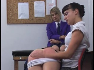 School Spanking Threesome