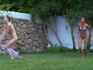 Russian chicks watersports in...