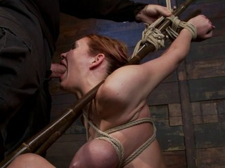 Bound throat fucked and fucked...