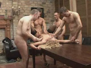 GANGBANG CELEBRATION FOR A FINE...