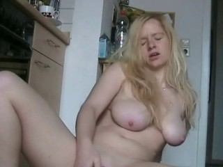 German busty blonde in heat