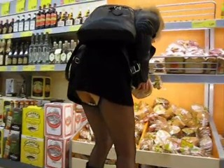 Legs Public Stockings Upskirt