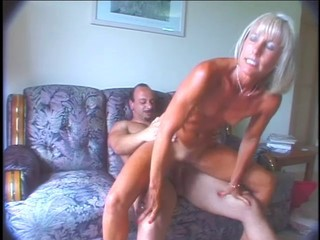 Great mature Ann masturbates and fucks!