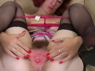 Clit Hairy MILF Stockings