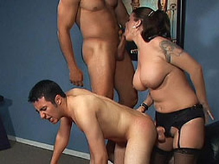Big-Titted pussy has sex couple...