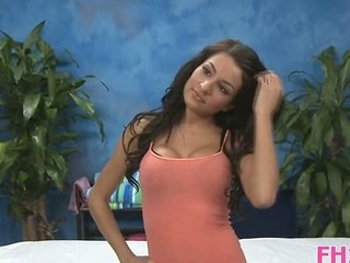 Brunette Casting Cute Teen