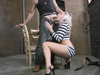 Blonde Blowjob Prison Teen