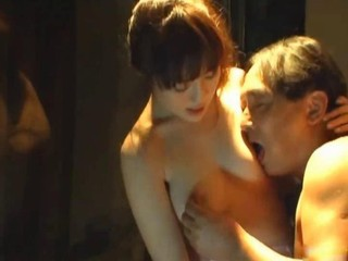 Asian Kissing Old and Young