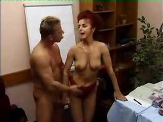 Mature redhead with wide ass taken