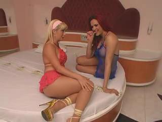 Tranny Fucking A Hot Blonde Woman