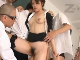 Asian Gangbang Hairy Japanese Teacher
