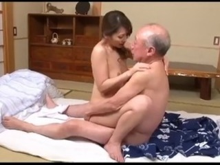 Young Japanese Wife & Old Man