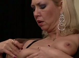 German mature mom playing