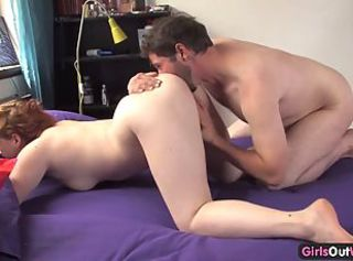 Curvy amateur licked and pumped by her boyfriend