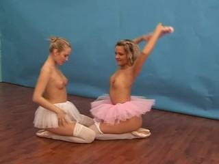 Ballerina girls playing with a...