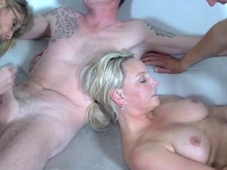 Blonde Groupsex Handjob Mature
