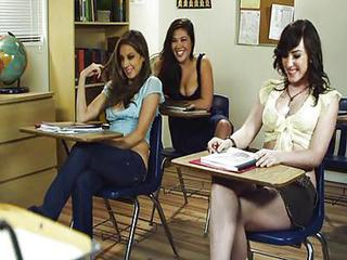 School Teen Threesome