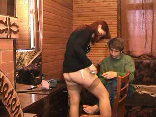 Russian Redhead Mom Ira With Young Boy