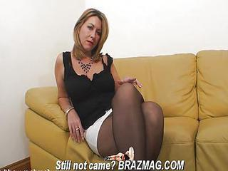 Blonde Legs Mature Stockings
