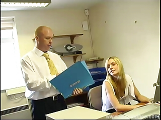 Blonde Office Secretary Teen