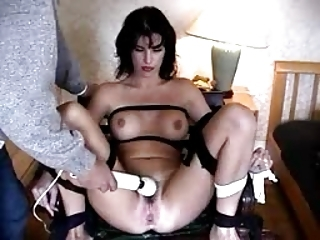 Bondage Brunette Teen Toy