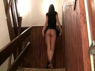 Hot College Girl Exposing Her Body On The Stairs - F...