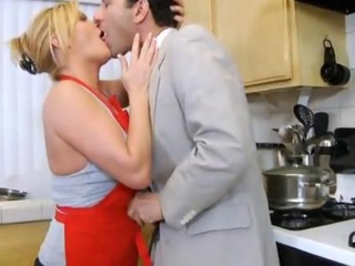 Blonde Hardcore Kissing Kitchen MILF