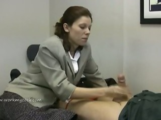 Lady boss demands for man s cum...