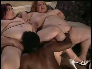 2 Huge BBWs in a 3some
