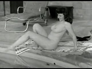 MILF Nudist Outdoor Pool Vintage