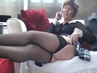 Amateur Homemade Legs Mature Stockings