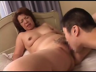 Asian Hairy Japanese Licking Mature Mom Old and Young