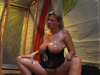 Big Tits Corset European German MILF Natural Piercing SaggyTits