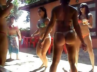 Brazil Sexy ASS Girls Bikini Pool Party (PG13) - Ameman