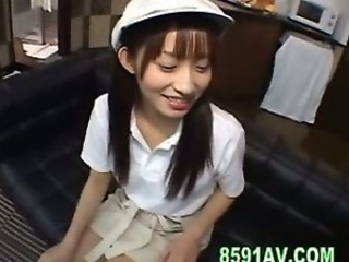 cute japanese teen blowjob and creampie fuck