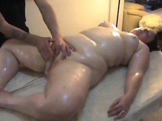 BBW Massage MILF Oiled