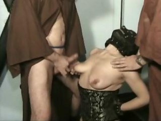 Horny slave gives master a good fuck and sucks his cock...