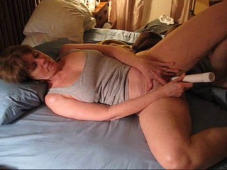 Mrs. Commish masturbates for her...
