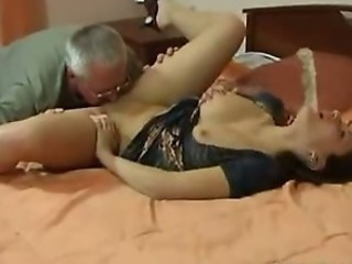 French Daughter Taboo family sex with Old man from France