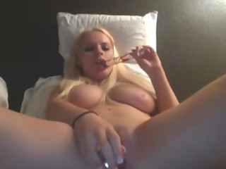 Busty Chloe Dildo Penetrates her Tight Cunt HD