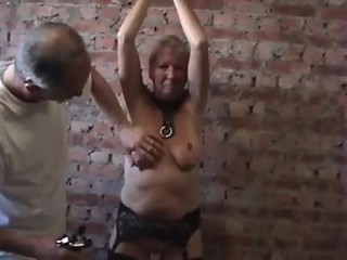 Doll has breast punishment