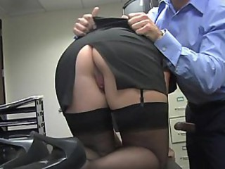 Ass MILF Office Secretary Stockings
