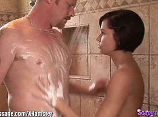 Super Skinny Teen Babe Kelly Klass Soapy Massage